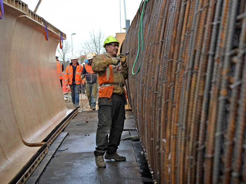 HOV viaduct Utrecht Van Boekel Bouw en Infra beton wapening