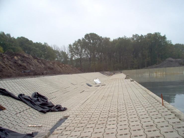 Bergbezinkbassin Brunssum Betontechniek-Betonbouw Van Boekel